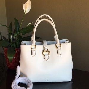 Lauren Ralph Lauren White Leather Satchel